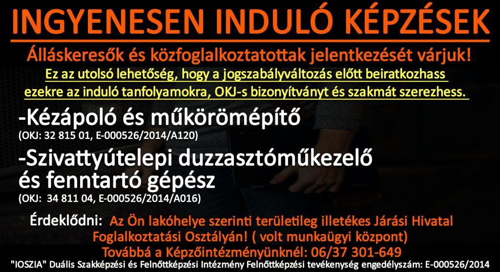 Békés megye - Ingyenes képzések - Felnőttképzés - felnottkepzes.hu - IOSZIA